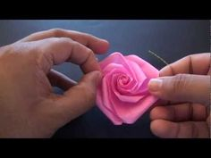 Origami Daily - 168: Beautiful Rose (Valentine's Day)! - YouTube
