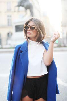 Blue Klein coat, by Dulceida