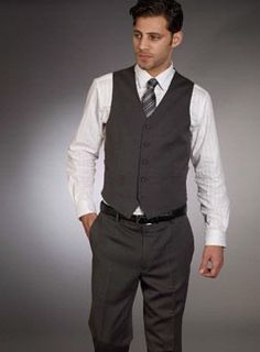 Similar idea...lose the tie and make it brown....for wedding attire