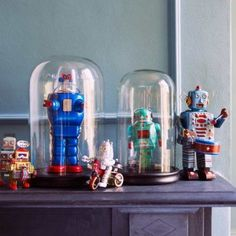 Source: Love these toy robots! Remind me of Lost In Space's robot. www.ourfifthhouse.com