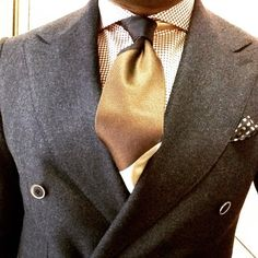 Handmade silk tie and pocket square both by Viola Milano