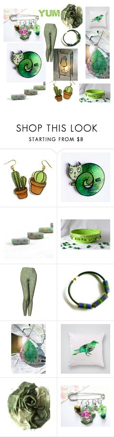 """""""Etsy Surprises for Spring"""" by glowblocks on Polyvore featuring Green & Spring"""