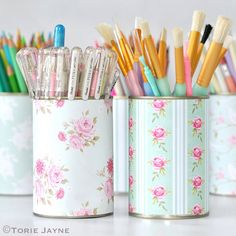 pretty pen pots - a craft tutorial