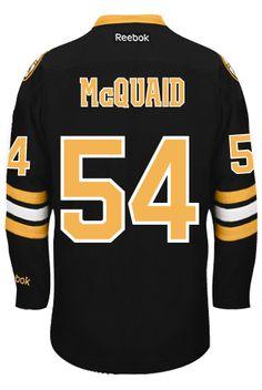 Boston Bruins Adam MCQUAID #54 Official Third Reebok Premier Replica NHL Hockey Jersey (HAND SEWN CUSTOMIZATION)
