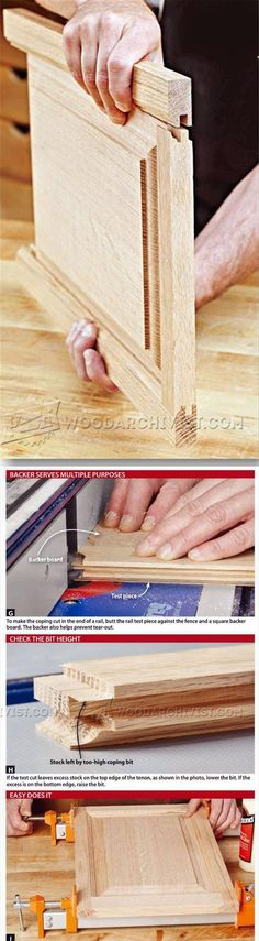 Cope and Stick Doors - Cabinet Door Construction Techniques | WoodArchivist.com