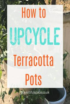 How to upcycle garden pots. A simple upcycling project that is thrifty and fun and will transform your garden from shabby to chic. Upcyled pots look SO much better #upcycle #ypcycled #upcycling #gardenpots Terracotta Pots, Small Homes, Everyday Objects, Beautiful Space, Ways To Save, Home Renovation, Garden Pots, Decorating Tips, Gardening Tips