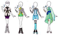 Naruto : Outfit Adoptables : Female I by Inspi-Designs.deviantart.com on @DeviantArt