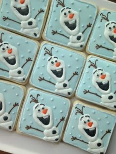 Olaf cookies from the movie Frozen, by our friends at Sarah's Sweets