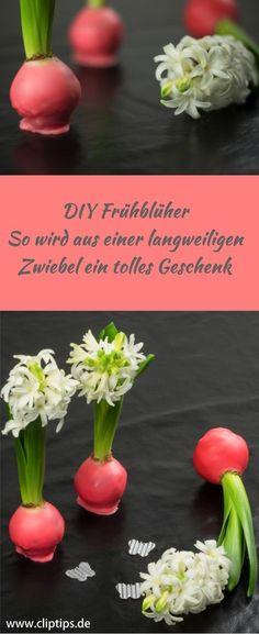 Super schöne farbenfrohe Deko, ganz schnell selbst gemacht und ideal als Geschenk für Ostern, Muttertag oder zum Valentinstag. #Geschenkidee #Valentinstag #Ostern #Muttertag #Deko