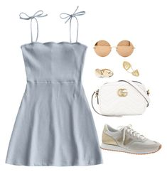 """""""Untitled #4673"""" by magsmccray ❤ liked on Polyvore featuring J.Crew, Fallon, Victoria Beckham and Gucci"""