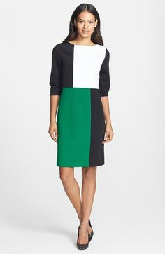 Isaac Mizrahi New York Colorblock Shift Dress available at #Nordstrom