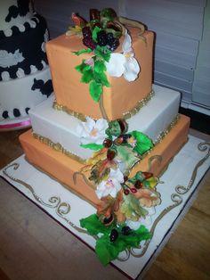 Autum brides cake