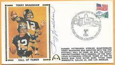 94906be7c Terry Bradshaw Hall of Fame Autographed Gateway Stamp Envelope HOF Postmark   PittsburghSteelers Football Hall Of