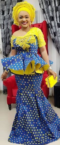 Aso Ebi Styles for Wedding Guest Diyanu African Maxi Dresses, Latest African Fashion Dresses, African Dresses For Women, African Print Fashion, Africa Fashion, African Attire, African Wear, African Prints, African Women