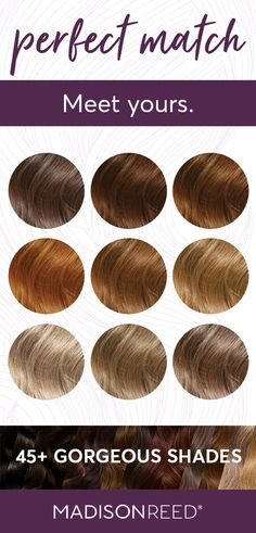 Meet your perfect hair color match: ash blonde, honey brown, copper blonde hair . Meet your perfec Ash Brown Hair Dye, Copper Blonde Hair Color, Light Golden Brown Hair, Light Auburn Hair Color, Dyed Blonde Hair, Golden Red, Brunette Hair, Dark Hair, How To Dye Hair At Home