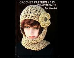 Free Pattern, for a very stylish winter hat, with a scarf attached, so you can keep warm and cozy! Do you need to learn to crochet?  No problem!  I ha...