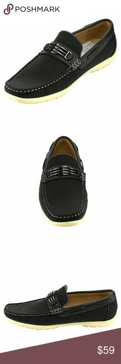 Arider Men's Moc Toe Loafers Enhance your every step with these Arider loafers by bringing an assortment of colors to your closet. Crafted from faux leather and housing white stitching, these shoes will bring your casual and formal ensembles to a level never before achieved. The moccasin design paired with the 1 inch heel height and padded footbed ensures comfort and style effortlessly. Shoes Loafers & Slip-Ons