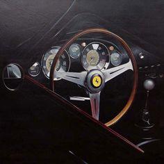 Ferrari 250 GT - 2006 Acrylique sur toile 80 x 80 cm