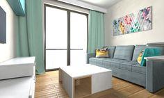 Projekt salonu z aneksem kuchennym #salon #livingroom #kitchen #kuchnia #interior #interiordesign #wnętrze