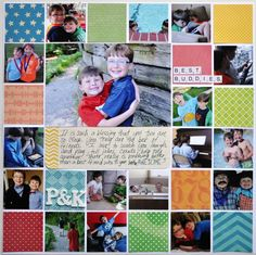 Scrap 17 photos on one layout http://scrapinspired.com/?p=7850