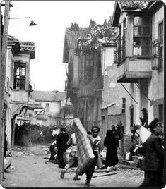 Eski İstanbul'da bir mahalle yangını - 1930'lar