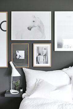 Wall of prints   Posterwall   bedroom   via @stylizimo