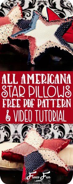 Free Patriotic Pillow Pattern