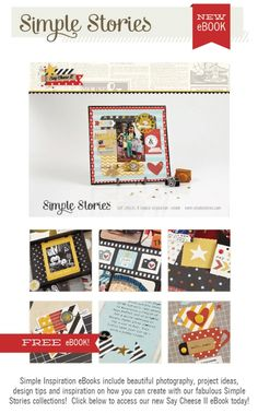 Say Cheese eBook from Simple Stories. Happy to have contributed a couple projects to this.