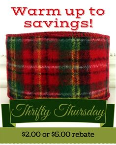 Warm Up to savings Thrifty Thursday from CottageCraftsOnline.com Cottage Crafts, Craft Online, Christmas Ribbon, Thursday, Knitted Hats, Warm, Knitting, Tricot, Breien