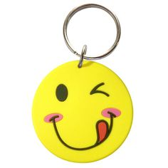 Smiley Rubber Keychain