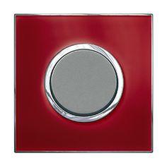 Arteor Switch Push-button Mirror Red