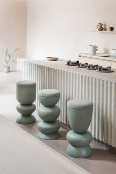 London design studio Sella Concept has launched its first furniture collection – a series of handmade stools featuring curvaceous forms inspired by the bathers at Hampstead Heath's Ladies' Pond. Loft Interior, Interior Design, Bespoke Furniture, Furniture Design, Plywood Furniture, Cheap Furniture, Chair Design, Modern Furniture, Furniture Nyc