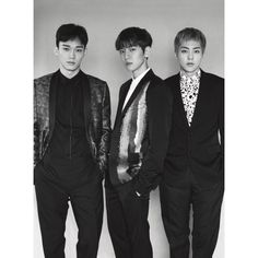 "EXO-CBX - 161204 L'Uomo Vogue Instagram update: ""Chen, Baekhyun @baekhyunee_exo, Xiumin. Exo the cover stars of L'Uomo Vogue December Issue #celebratingstyle. Out on news stands soon! Photos by Peter Ash Lee @peterashlee Fashion editor Ye Young Kim..."