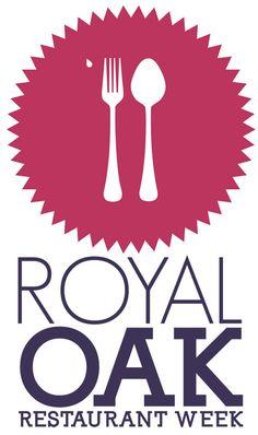 Royal Oak Restaurant Week Logo by Brandon White, via Behance Typo Design, Graphic Design Tools, Modern Logo Design, Oak Restaurant, Restaurant Logos, Reading Nook Kids, Dashboard Design, Creative Posters, Royal Oak