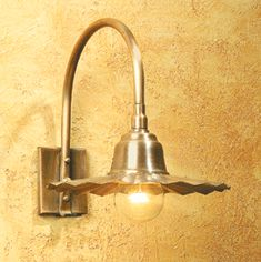 Gooseneck  Light SLS507 in antique copper finish with fluted shade