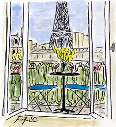 Yellow Tulips in Paris by Fifi Flowers
