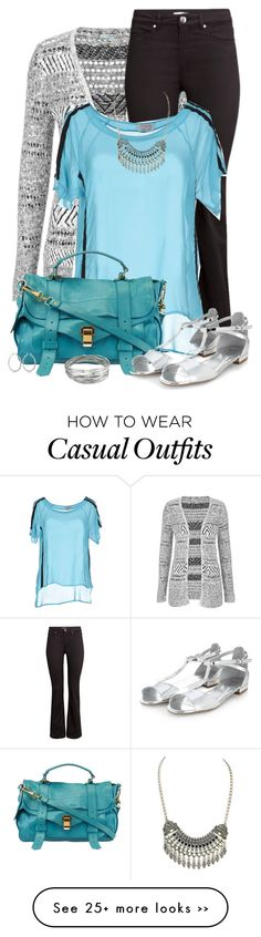 """Grey + Turquoise"" by jafashions on Polyvore"