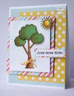 Home Is stamp set - card by Deb Felts