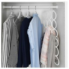 Ikea - komplement multi-use hanger white ikea small spaces, small space liv Hanging Clothes Organizer, Clothes Hanger, Ikea Komplement, Ikea Small Spaces, Kids Clothesline, Kids Shoes Online, Tie Organization, Organizing Tips, Organising