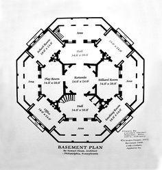 Nutt's Folly / Longwood Mansion Basement Floor Plan