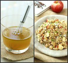 Quinoa Salad with Apple, Chickpeas, Toasted Almonds & Apple Cider Vinaigrette Recipe by CookinCanuck, via Flickr