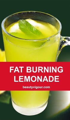 Burn Body Fat With This Delicious Lemonade #lemonade #fatburning #weightlossrecipes