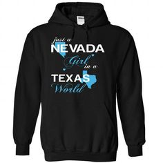 (NVJustXanh001) Just A Nevada Girl In A Texas World LIMITED TIME ONLY. ORDER NOW if you like, Item Not Sold Anywhere Else. Amazing for you or gift for your family members and your friends. Thank you! #texas #shirts