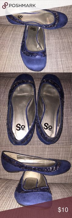 Cobalt SO Flats with blue sequins size 6.5 Fancy comfortable flats. Cobalt blue. Blue sequins. Size 6.5 SO Shoes Flats & Loafers