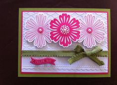 Stampin' Up! Mixed Bunch with Fancy Fan EF by Cards by Kate
