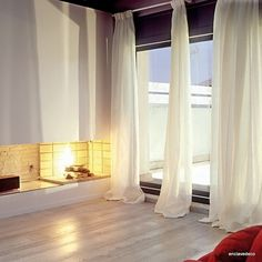 Sheer curtains looks very elegant and noble. You can use them in rooms with modern or classic design. We share with you elegant sheer curtains in this photo