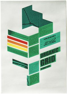 Organic Grid by Peter Ørntoft, via Behance Type Posters, Graphic Design Posters, Graphic Design Inspiration, Graphic Prints, Poster Prints, Leaf Structure, Geometric 3d, Poster Layout, Poster Ideas
