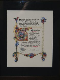 Illuminated Calligraphy Artist Print - To Have Succeeded 2010 via Etsy
