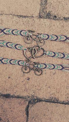 Friendship bracelet, bike, knotted bracelet