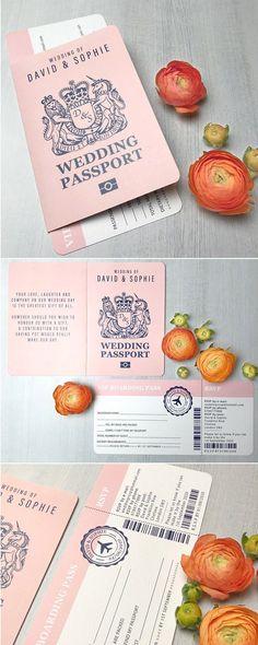 42 Best of Travel Wedding Invitations - Wedding Passport - Wedding - Hochzeit Wedding Themes, Wedding Tips, Wedding Blog, Wedding Cards, Diy Wedding, Wedding Events, Wedding Planning, Dream Wedding, Trendy Wedding